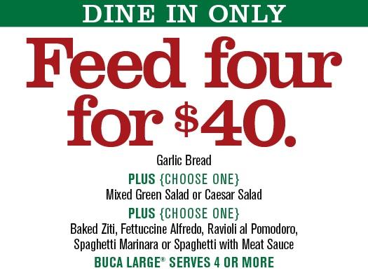 Buca italian restaurant coupons