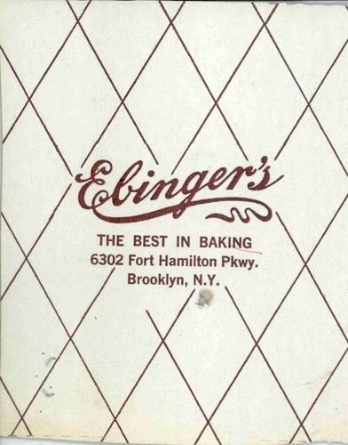 company a ebingers bad was bakery