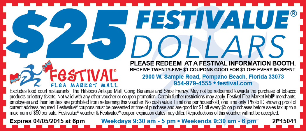 Easter sunday festival flea market mall pompano beach for Fast food places open on easter sunday