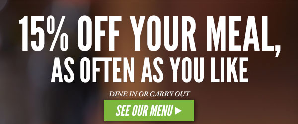Carrabba's Italian Grill 15% Off Your Meal, As Often As You