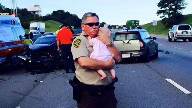 cop and baby