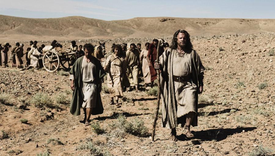Scene 2/53 - Ext Egyptian desert;  Joshua (SEAN KNOPP) questions if Pharoah would risk God's anger again.