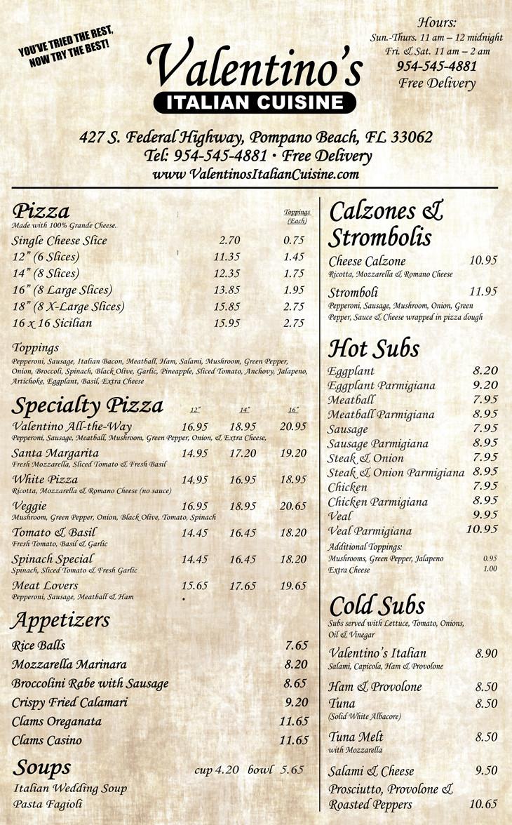 Italian Restaurant Near Me: DISH OF THE WEEK (Sunday 12/20/15- Valentino's Italian