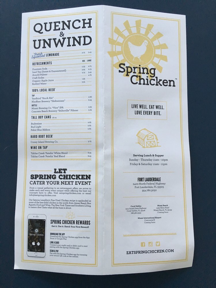 Spring Chicken (Fort Lauderdale) | Jeff Eats